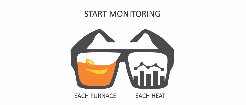 Start monitoring each furnace each heat